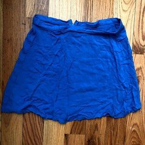 American Apparel blue mini skirt